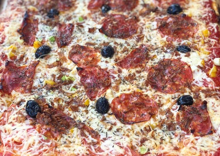 Pizza chorizo /poivrons