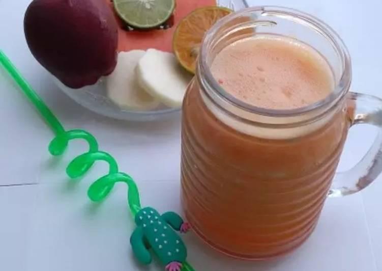 Cara Gampang Menyiapkan Diet Juice Papaya Orange Apple Jicama Lemon, Bisa Manjain Lidah