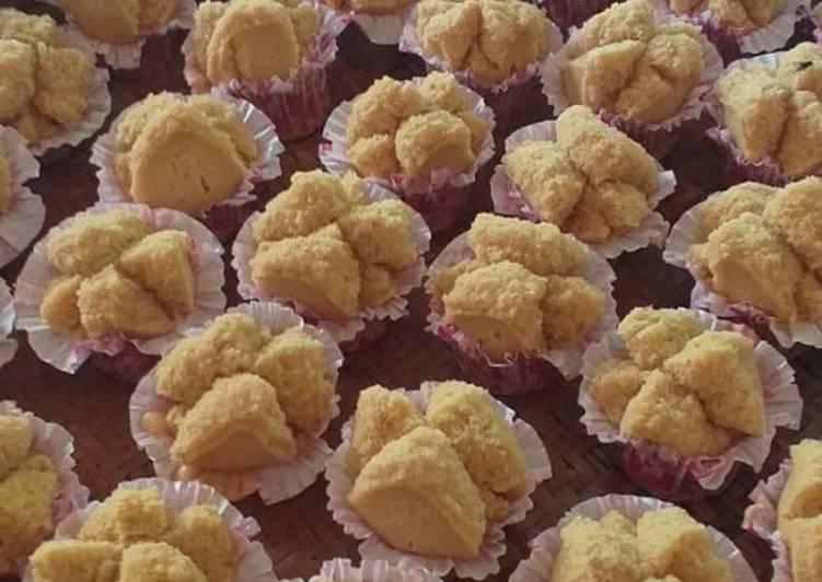 Bolkus mekar gula Jawa gampang, no mixer