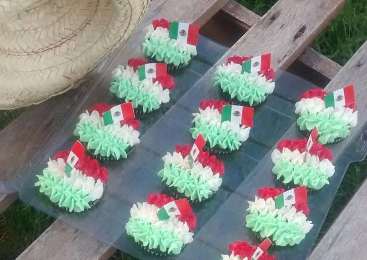 Cupcake Viva México Receta De Kika Gutierrez Cookpad