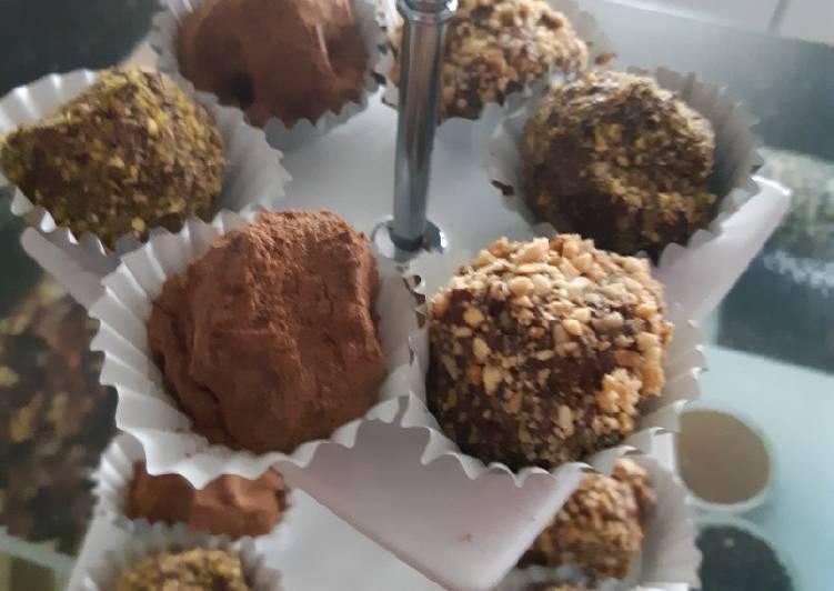 Comment Préparer Des Les truffes au chocolat