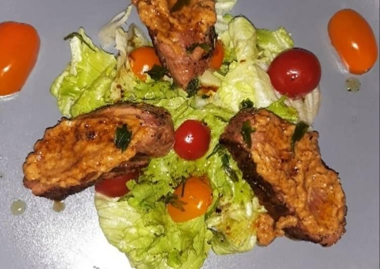 Recettes ♨️ Magret de canard au miel et son crémeux d'oignons ♨️