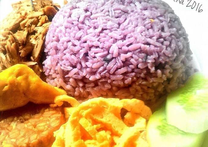 Resep Nasi Uduk Ubi Ungu Sehat Tanpa Santan Oleh Maya Damamain Cookpad