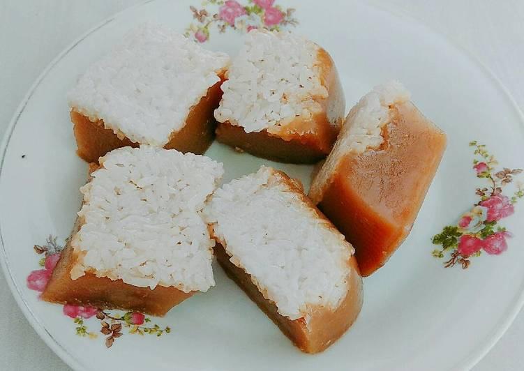 Lapis Ketan Cokelat Srikaya