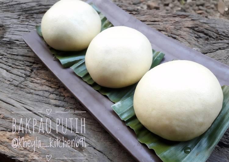 resep cara membuat Bakpao Putih (bakpao lembut) kulitnya lentur