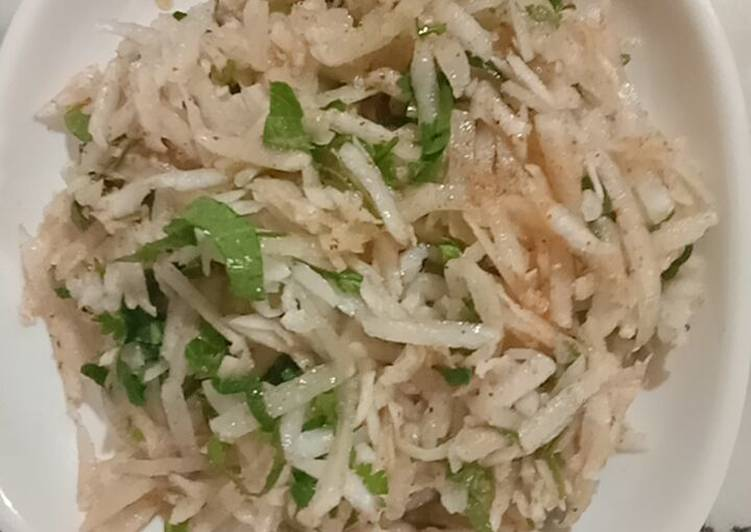 Learn How to Elevate Your Mood with Food Grated Radish salad