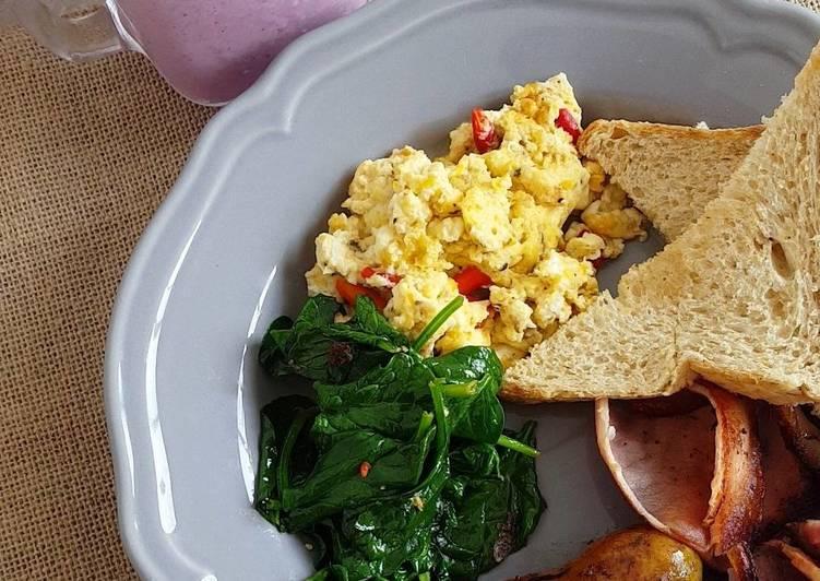 Breakfast from Gee's kitchen