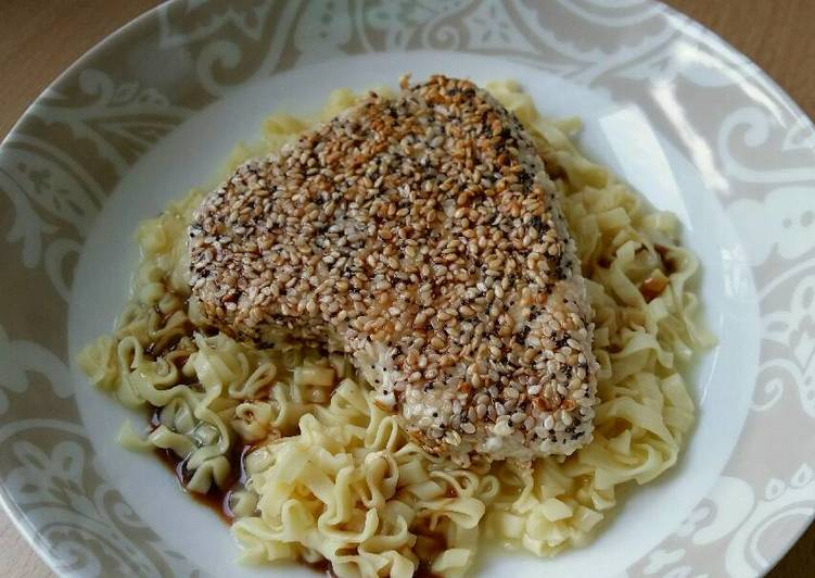 Vickys Sesame & Poppy Seed Crusted Tuna, GF DF EF SF NF
