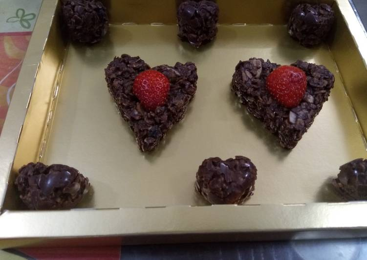 Step-by-Step Guide to Prepare Favorite Muesli & nuts choco hearts