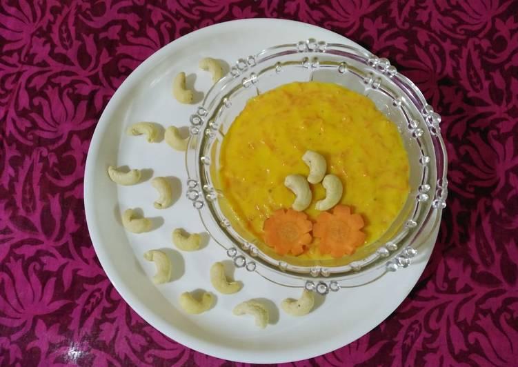 Carrot milk pudding