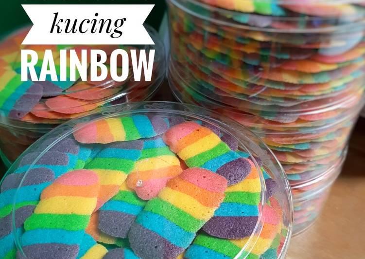 144. Lidah Kucing Rainbow - cookandrecipe.com