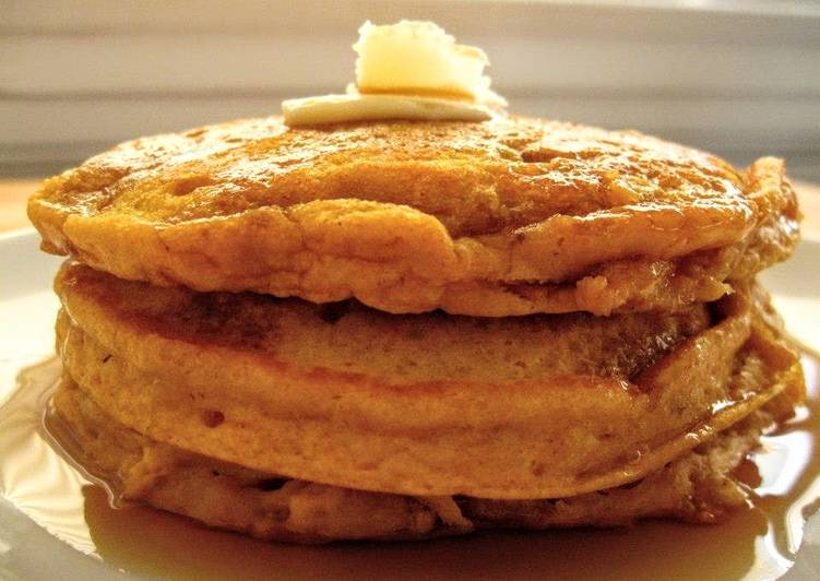Recipe of Quick Small Batch Melt-In-Your-Mouth Pumpkin Pancakes