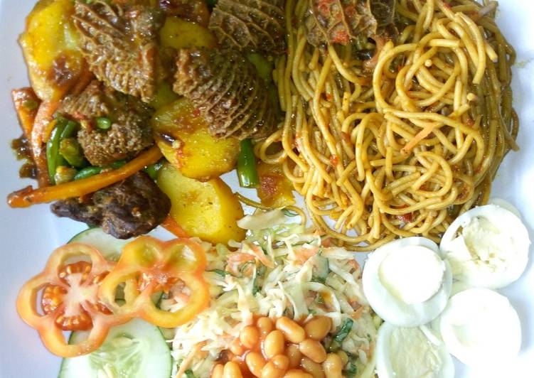 Pasta/potatoes with offals