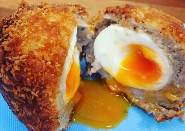 Easy warm Scotch Eggs