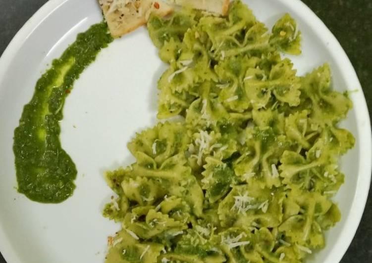 Simple Way to Prepare Favorite Vegan Pesto with Farfalle Pasta