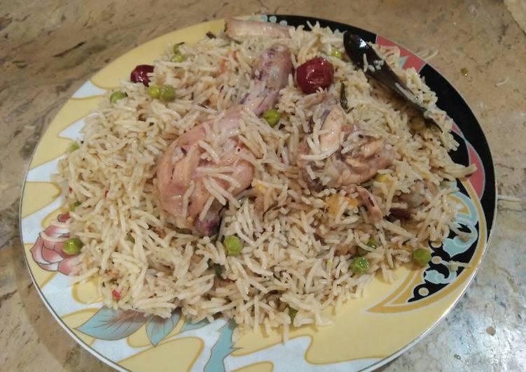 Steps to Prepare Homemade Chicken matar pulao. #cookpadApp