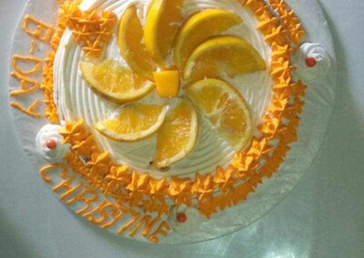 Orange cake# Christmas baking contest #