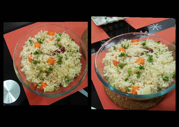How to Prepare Super Quick Homemade Veg pulao in rice cooker