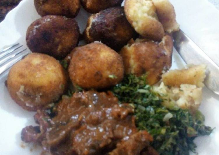 Easiest Way to Prepare Appetizing Potato croquet and beef stew