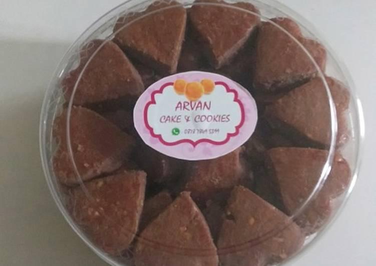 Kue Kacang Cokelat