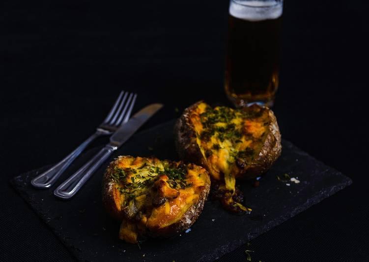 Coronation Chicken in Jacket Potatoe