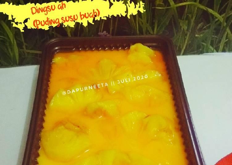 Dingsu ah(puding susu buah)