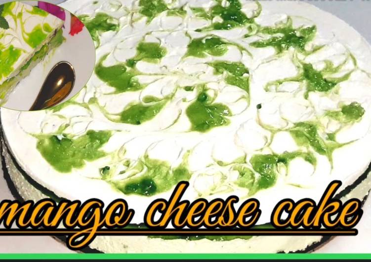 Recipe of Ultimate Raw Mango cheese cake…No bake