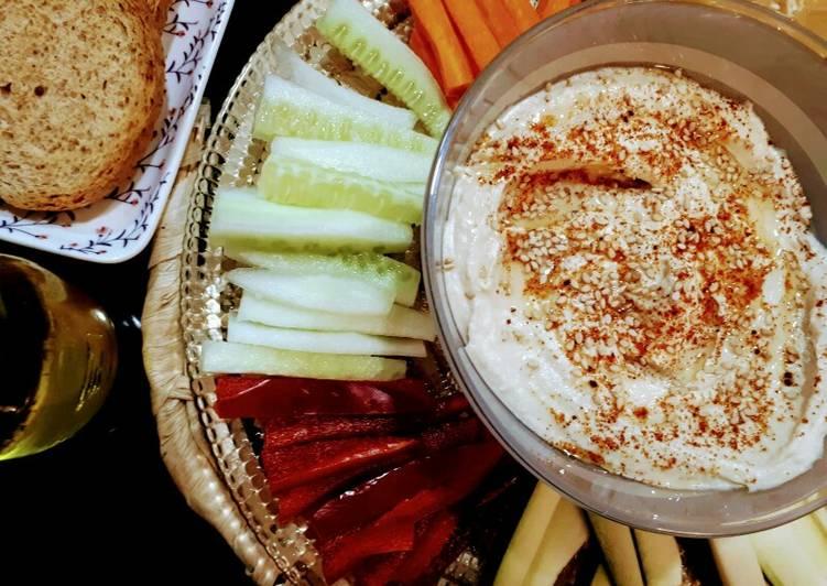 Hummus con crudites