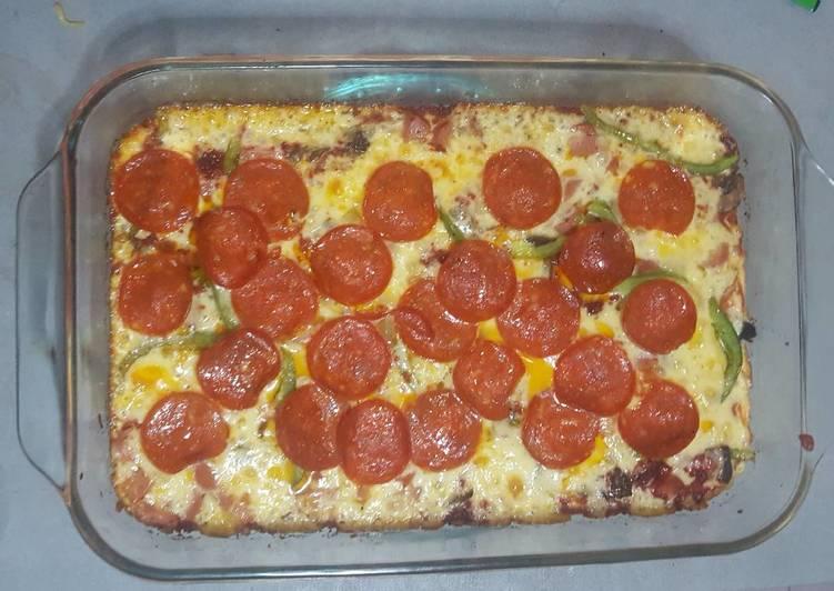 Pizza harina de almendras