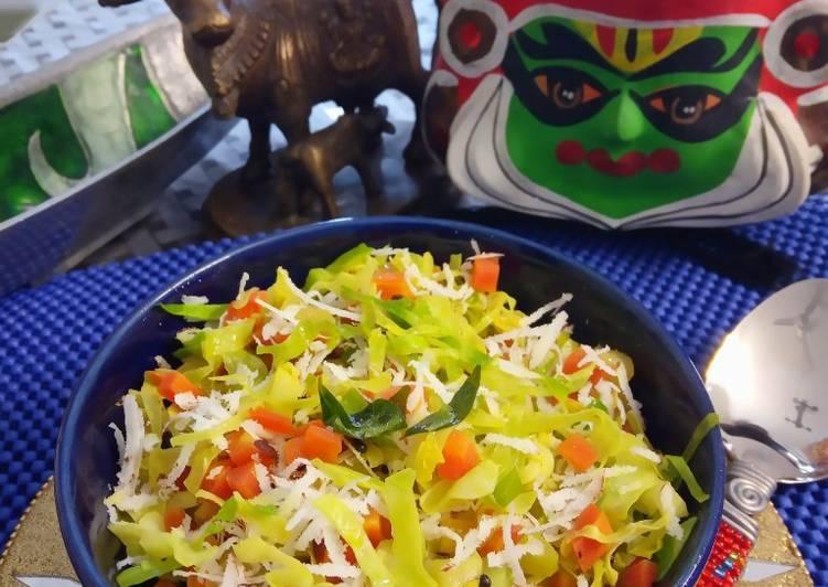 Muttakose Simamullanki Poriyal/ Cabbage Carrot Stir fry