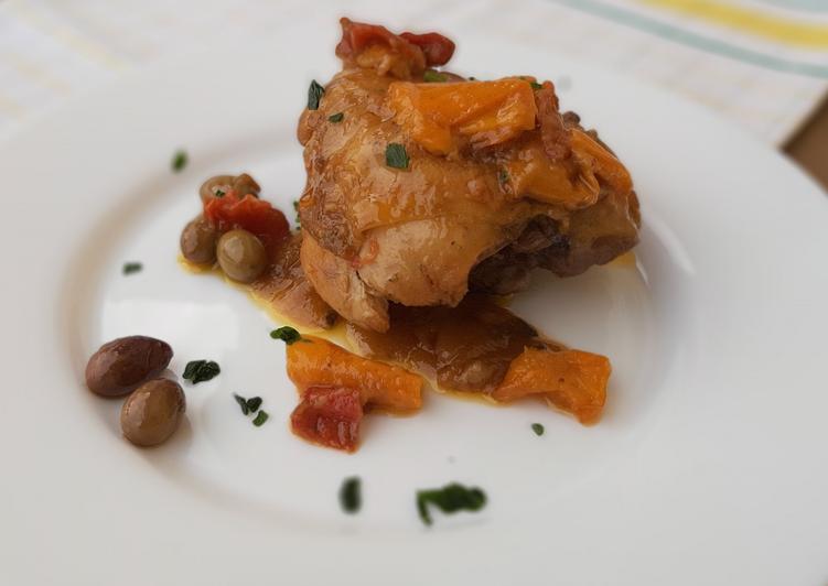 Pollo marinato alla mediterranea