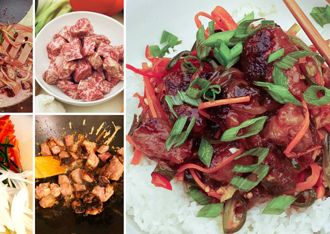 Spicy Ginger Szechuan Wagyu Beef