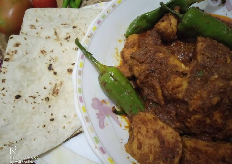 10 Minute Easiest Way to Make Any Night Of The Week Achar gosht with homemade masala