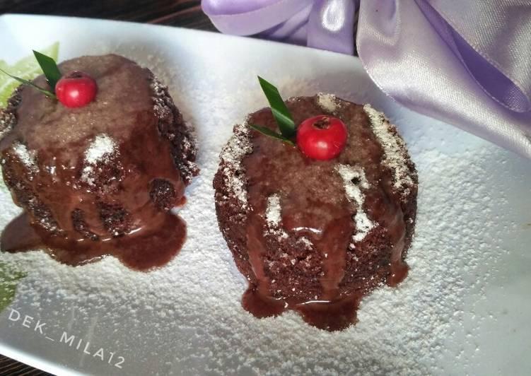 Super moist chocolate steam cake (brownise kukus lumer no Mixer)