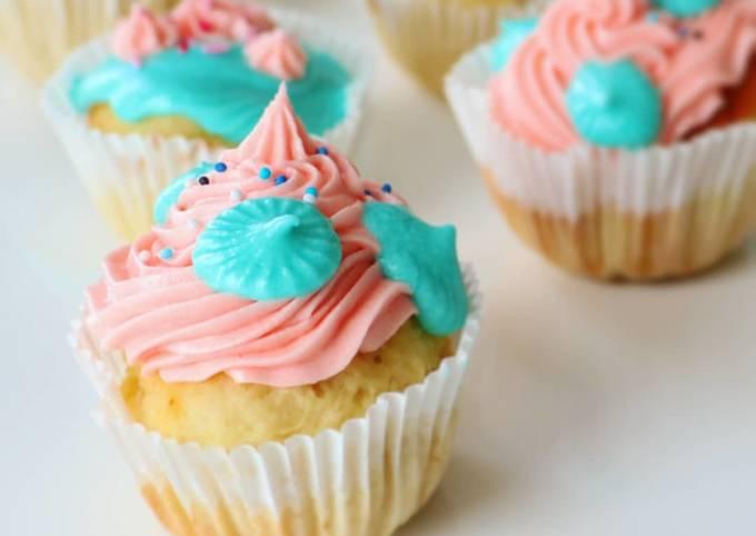 Cupcakes vegan Gender reveal