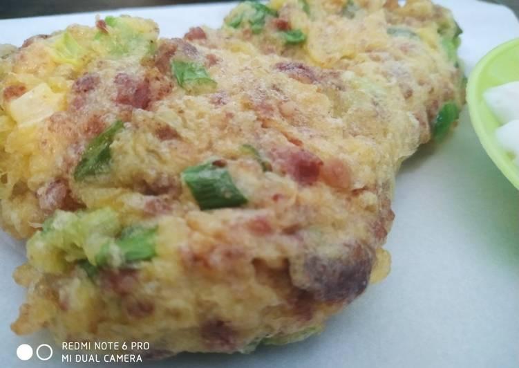 Dadar kornet aka omelette kornet