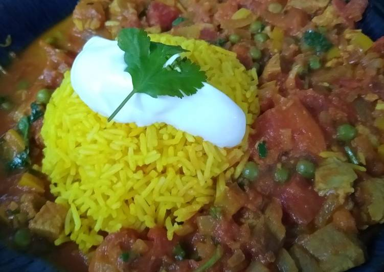 Recipe of Perfect Mild Curry with Tumeric Rice
