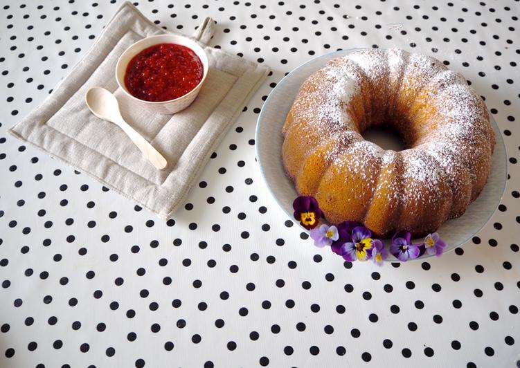 Steps to Make Ultimate Strawberry cider pound cake