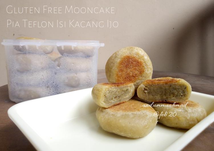 Gluten Free Mooncake Pia Teflon Isi Kacang Ijo