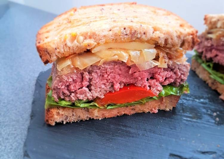 Recipe: Appetizing Burger extra !