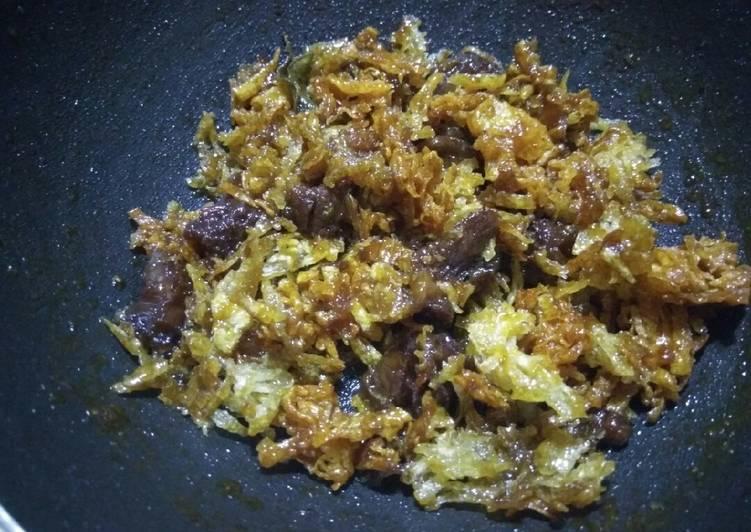 Daging kering kentang