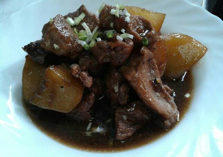 Pork and Potatoes in Soy Sauce (Adobo)