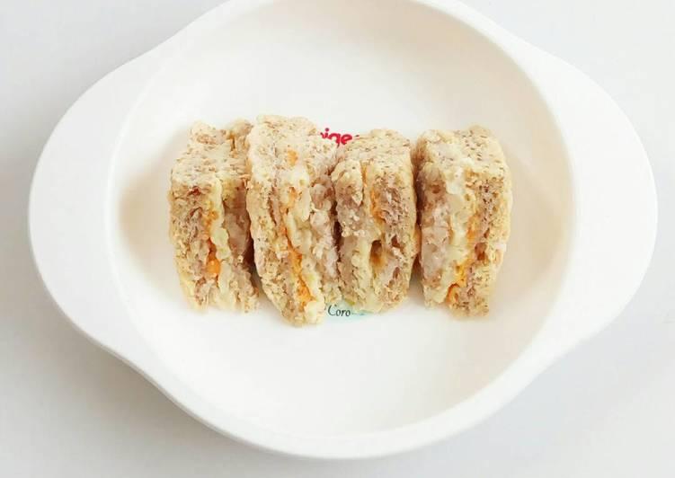 Steamed Salmon Bread - MPASI