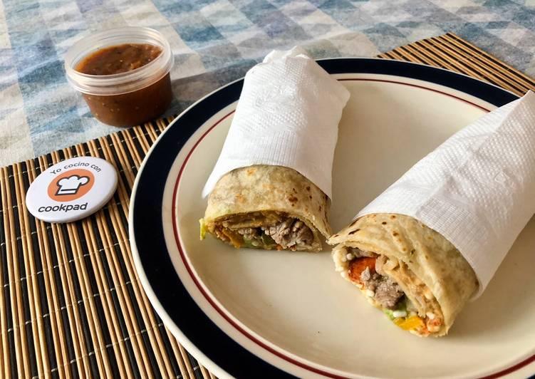Recipe: Appetizing Burrito Percherón chuky | Receta sonorense