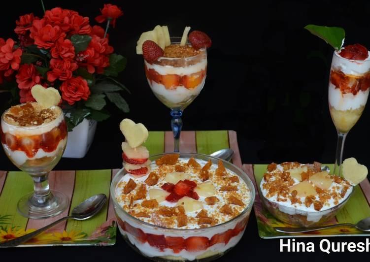 Simple Way to Prepare Homemade Mix fruit crunchy dessert