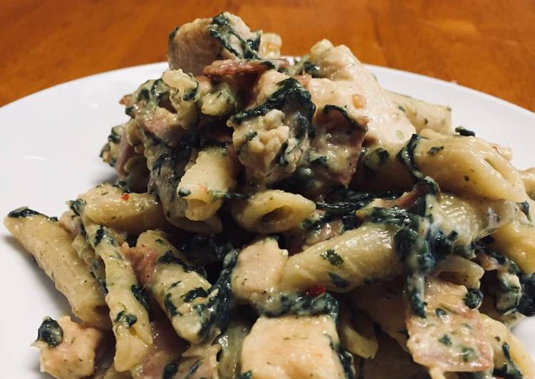 Creamy Chicken and Bacon Penne