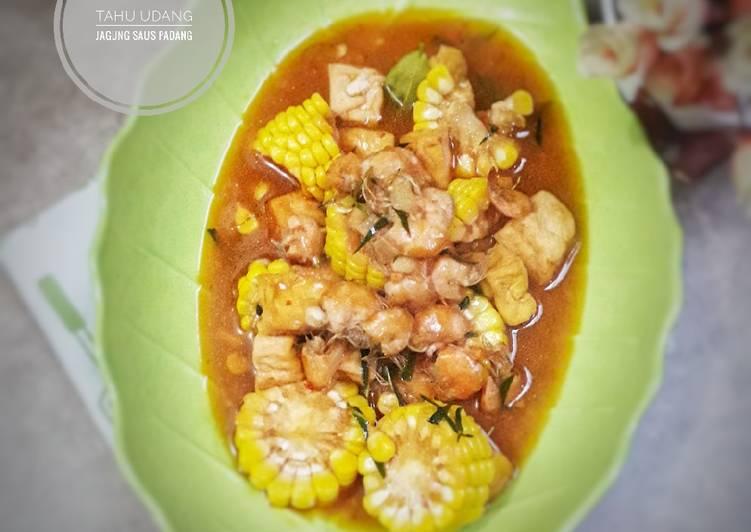 Cara membuat Tahu udang jagung saus padang wangi jeruk