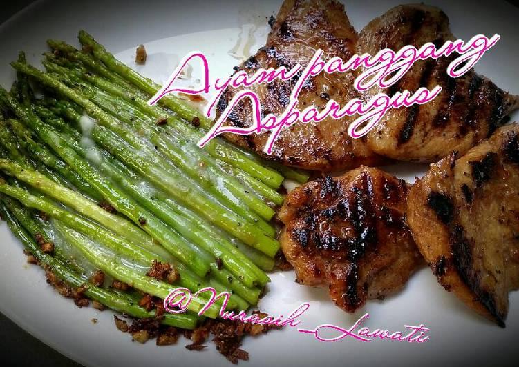 Ayam panggang Asparagus