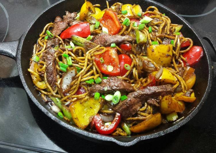 How to Prepare Yummy Pepper Steak Noodles