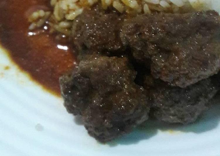 Semur daging cincang sederhana